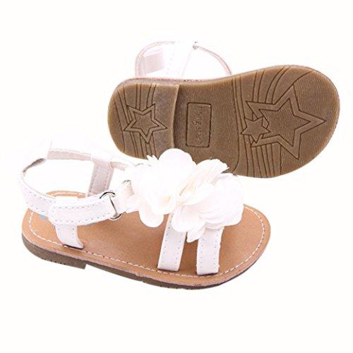 Transer ,  Unisex Babys Baby Mädchen Baby, Jungen Durchgängies Plateau Sandalen mit Keilabsatz Weiß