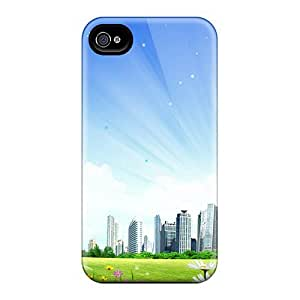 Fashionable Style Cases Covers Skin For HTC One M8 City Fantasy