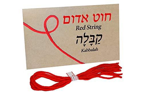 5 pcs Red String Bracelet Against Evil Eye from Rachel's Tomb Israel with Ben Porat Prayer for Family ()