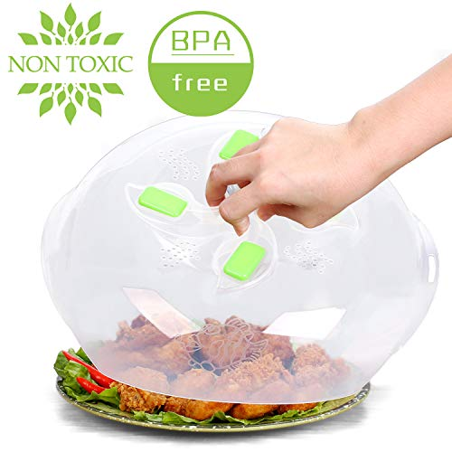 Microwave plate cover, prevent food splatter cover, product -Magnetic adsorption function. safe convenient with steam vent(green)