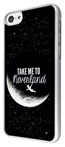 iphone 5C Cool Funky Moon take me to neverland Design Fashion Trend Hülle Case Back Cover Metall und Kunststoff