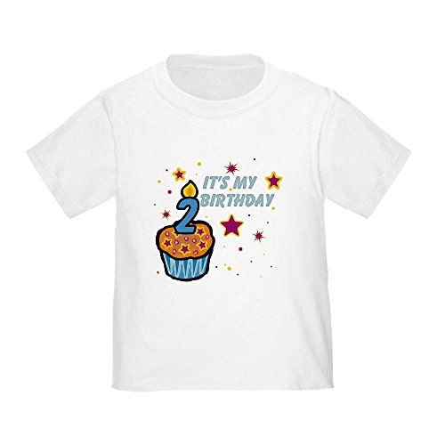 CafePress It's My Birthday Age 2 Toddler T-Shirt Cute Toddler T-Shirt, 100% Cotton White
