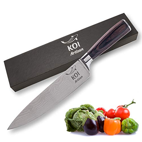 KOI ARTISAN - Cuchillo de cocina profesional de 20 cm ...