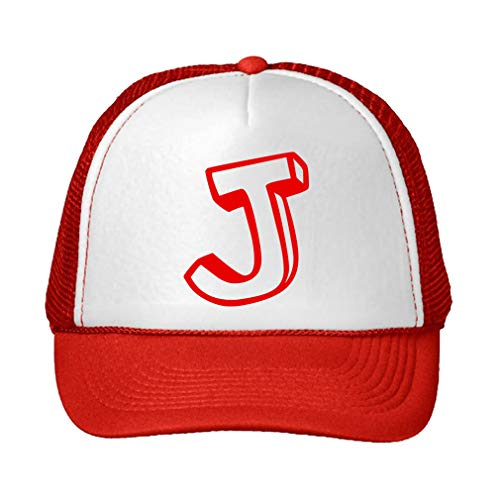 Trucker Hat J Kids Initial Monogram Letter J Polyester for sale  Delivered anywhere in USA