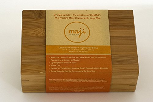 Maji Sports Bamboo Yoga/Pilates Block by Maji Sports