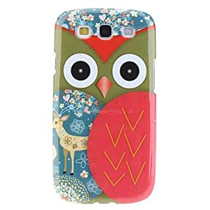 Caso duro de Red Owl Pattern para Samsung Galaxy S3 I9300