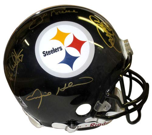 Steel Curtain Autographed Pittsburgh Steelers Full Size Authentic Helmet - JSA ()