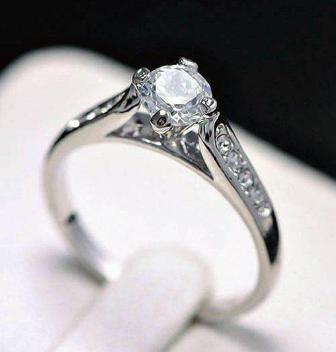 18k gold engagement wedding ring set