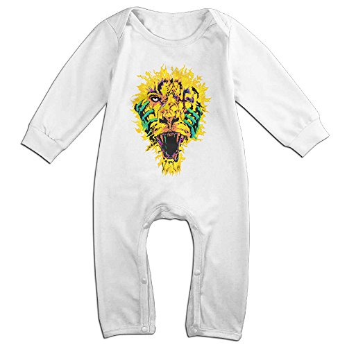 [Raymond Hannibal Tripped Long Sleeve Baby Climbing Clothes White 12 Months] (Dwayne Johnson Baby Costume)