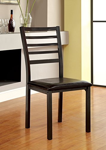 Ladder Back Chair Set (Furniture of America Casella Ladder-Back Dining Chair, Set of 2)