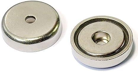 Neodym Topfmagnet mit Bohrung Senkung 32mm 30KG Strak M5 Loch Neodym-Magnet Rund