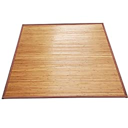 World Pride Durable Natural Bamboo Rug Area Mat Contemporary Decor 5'x 8'Indoor Outdoor Carpet