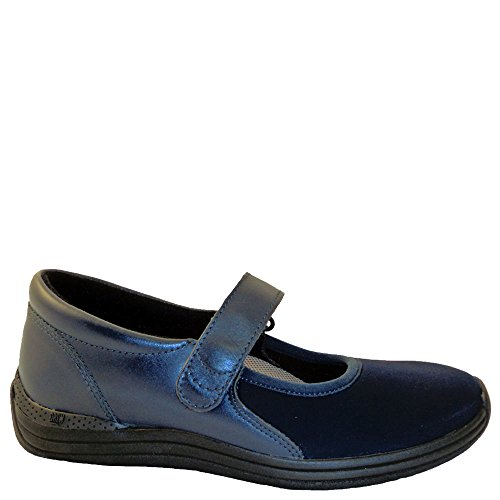 Drew Shoe Women's Magnolia Mary Janes,Blue,8.5 WW (Drew Leather Mary Janes)