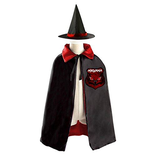 DIY Nirvana logo Costumes Party Dress Up Cape Reversible with Wizard Witch (Bond Girl Costume Party)