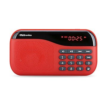 Portronics POR-143 Plugs Portable Speaker With FM & MicroSD card Support ( Red )