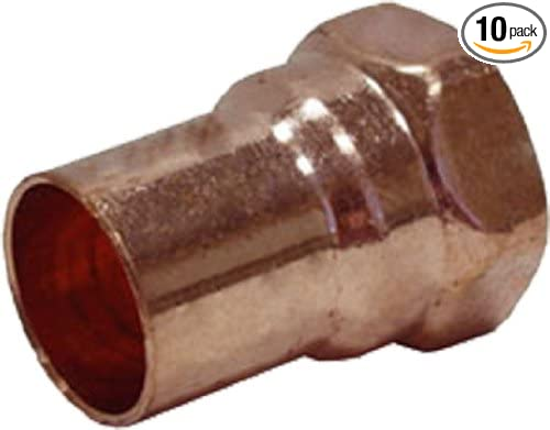 10-Pack Plumbers Choice 91890 1//8-Inch C x FIP Copper Fitting FIP Adapter
