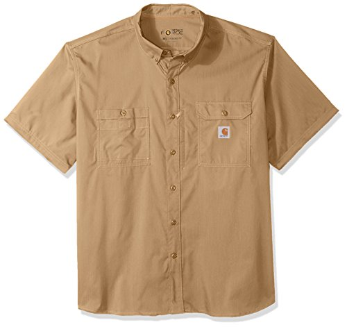 Carhartt Men's Big and Tall Force Ridgefield Short Sleeve T-Shirt (Regular and Big & Tall Sizes), Dark Khaki, - Carhartt Dry Work