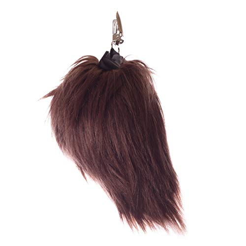 Wildlife Tree Plush Grizzly Bear Tail Clip-On Accessory for Grizzly Bear Costume, Cosplay, Pretend Animal Play or Forest Animal Costumes