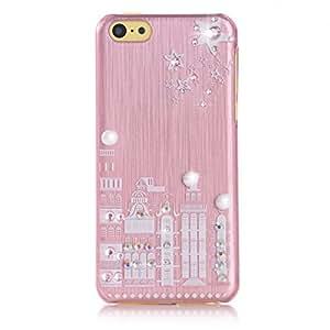 EVETANE - Hull City rosa diamantes de imitación de Apple iPhone 5C