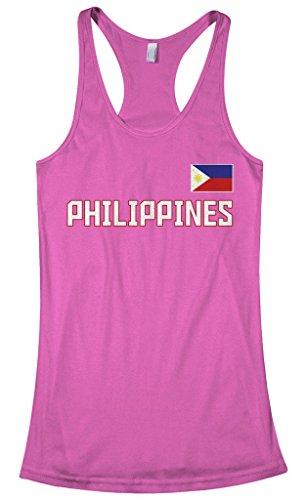 Threadrock Women's Philippines National Pride Racerback Tank Top M Hot - Hot Philippines Womens