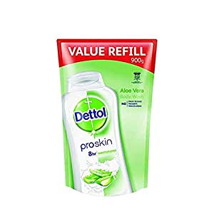 Dettol ProSkin Aloe Vera Body Wash Refill, 900g
