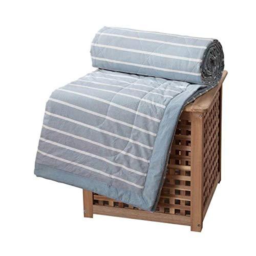 Amazon.com: AMY - Colcha de algodón a rayas color azul cielo ...