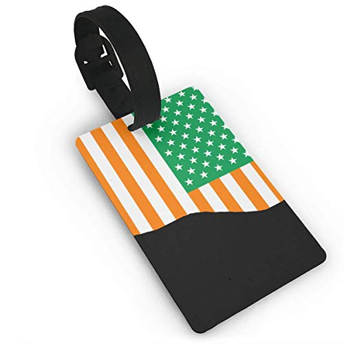 NOAID Travel Luggage Tag Irish Flag Of The United States PVC Baggage Suitcase Tag Name Address ID Label ()