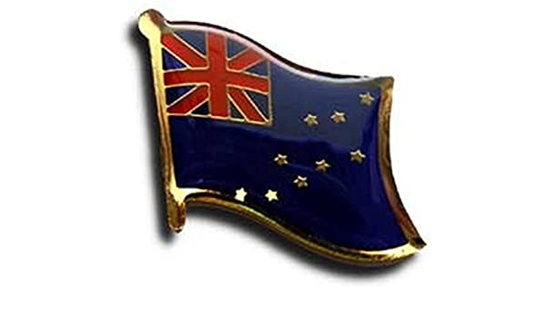 Tuvalu Country Flag Enamel Pin Badge