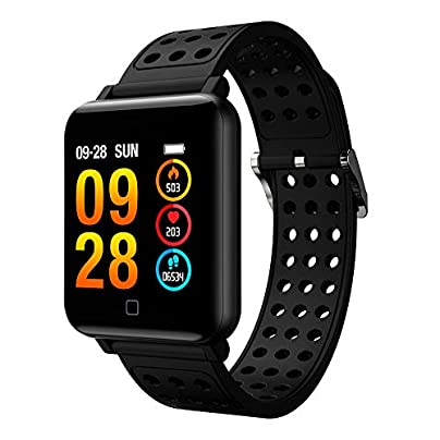 Fitness Smart Wristband with Heart Rate Monitor Blood Pressure Watch Activity Tracker IP67 Waterproof Sleep Monitor Pedometer Calorie Counter Compatible with Android iOS for Women Men Estimated Price £42.99 -