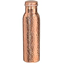 Artncraft Hammered Copper Stylish Q7 Bottle Joint Free with Ayurvedic benefited 100% pure & Leak Proof Bottle
