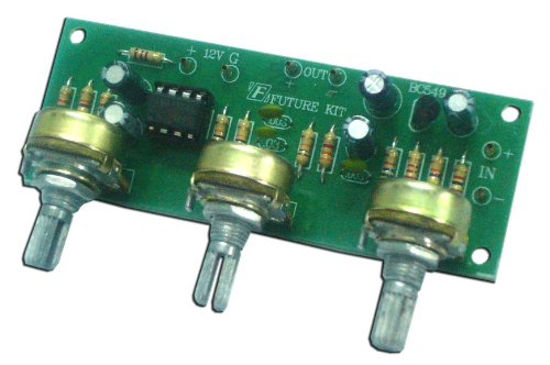Mono TONE CONTROL BASE/VOLUME/TREBLE IC 741 Assembed kit