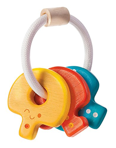 Plan Toys Baby Key Rattle - International Tracking Shipping Standard