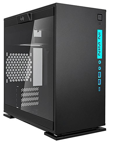 In Win 301C Black USB 3.1 Type-C Gen 2 RGB LED Sync-Ready Micro-ATX Mini-ITX Tower Gaming Computer Case, with Tempered Glass