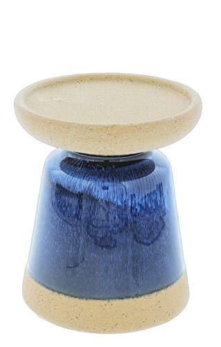 Accents de Ville Blue Ceramic Pillar Candle Holder (4.5