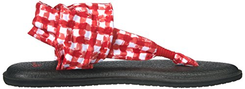 Women's 2 Flop Sanuk Gingham Flip Sling White Red Yoga AHZnTqO