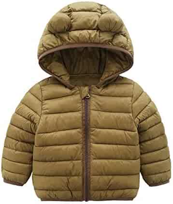 45c749b97 CECORC Winter Coats for Kids with Hoods (Padded) Light Puffer Jacket for  Baby Boys