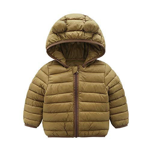 CECORC Winter Coats for Little Kids with Hoods (Padded) Light Puffer Jacket for Outdoor Warmth, Travel, Snow Play | Little Girls, Little Boys | Baby, Infants, Toddlers, 3T, -