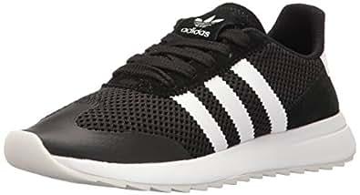adidas Originals Women's Flashback Fashion Sneakers, White/Black, (5 M US)