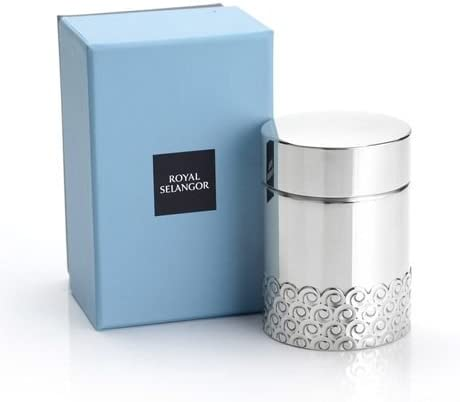 Royal Selangor Hand Finished Wave Collection Pewter Airtight Tea//Coffee Caddy S