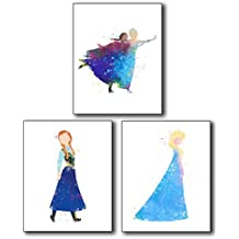 Anna & Elsa Photos from Frozen - Set of Three Limited Edition 8x10 Poster Prints