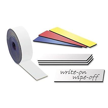 Nastro magnetico colorato, scrivibile e cancellabile - 0,85mm x 30mm x 5m - per etichettare, evidenziare e contrassegnare, Colore:verde Magnosphere