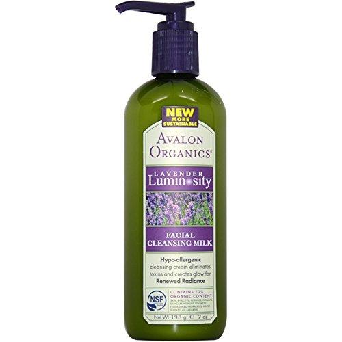 Avalon Organics Facial Cleansing Milk Lavender - Avalon Organics Lavender Facial Cleansing Milk, 7 Ounce Bottle
