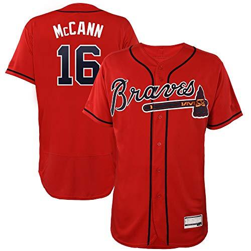Men's/Women's/Youth Brian_McCann_#16_Braves Player Atlanta Game Jersey XXXL Scarlet ()