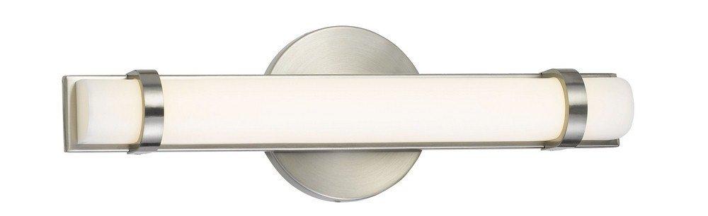 Cal LA-8601S 13'' 13W 1 LED Small Bath Vanity, Brushed Steel Finish