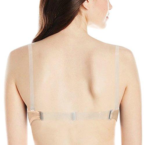 con multibraccia trasparente up spalline Cinghie cinturino senza reggiseno YANDW imbottito bretelle con push push imbottite Beige up UfPwnxq