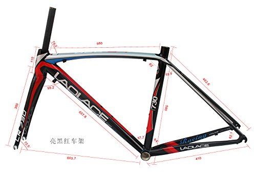 L730 Road Bike Bicycle Racing 700c Alloy Frame and Carbon Fork Frameset with Free Headset 50cm