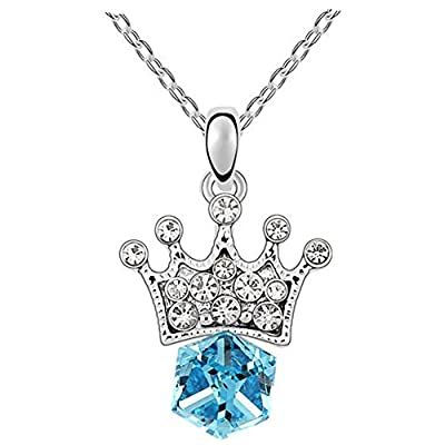 GUGGE Princess Lover Imperial Crown Crystal Pendant