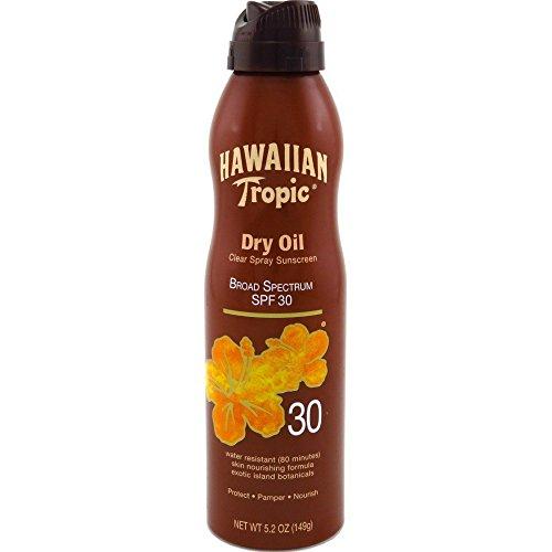 (Hawaiian Tropic Dry Oil Clear Spray Sunscreen SPF 30 5.2 oz (Pack of 6))