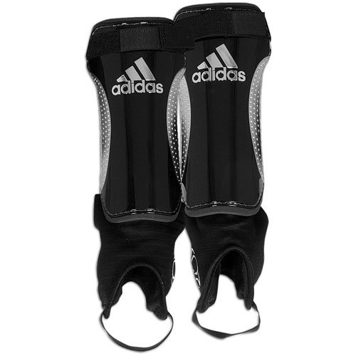 Chrome Soccer Shin Guards (adidas Men's Club Pro Shinguard ( sz. XL, Black/Chrome/Chrome ))