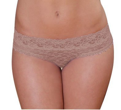 Lace Hipster Panty (Medium-fits 4-6, Nude)